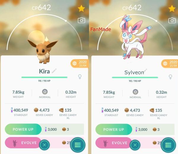 Cómo evolucionar a Eevee en Sylveon en Pokémon Go - Cómo evolucionar a Eevee en Sylveon - truco rápido