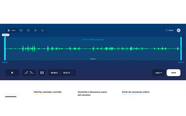 Editores de audio online gratis - MP3 Cut