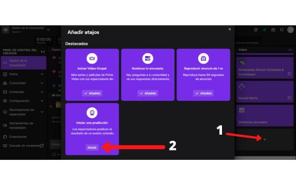 Cómo hacer encuestas en Twitch - Cómo hacer predicciones en Twitch