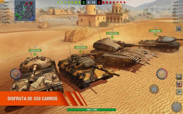 Los 10 mejores juegos multijugador cooperativo para Android - World of Tanks Blitz 3D online PVP