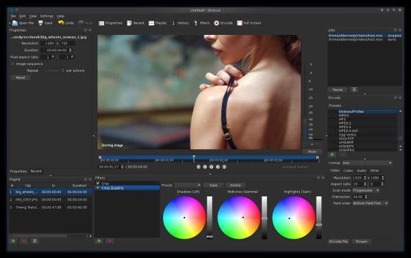 Mejores editores de video gratis para Windows - Shotcut, un editor de vídeo para especialistas