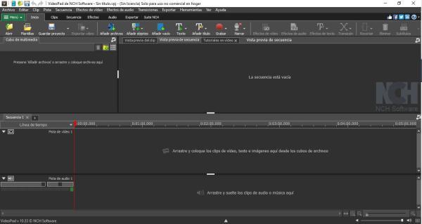 Mejores editores de vídeos para principiantes - VideoPad de NCH Software