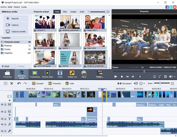 Programas para editar videos gratis sin marcas de agua - AVS Video Editor