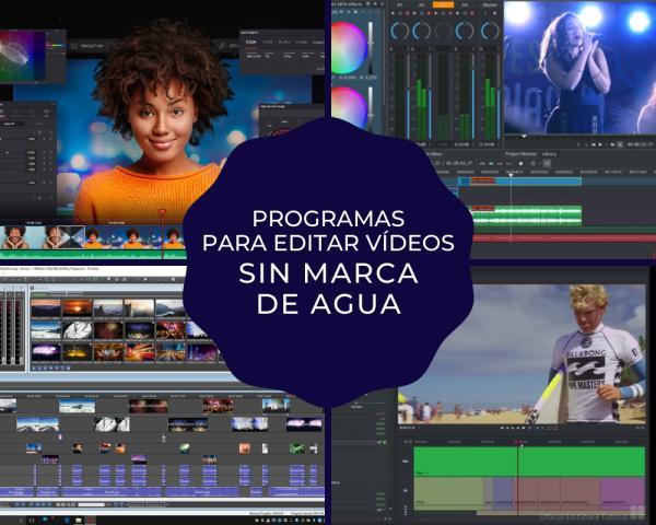 Programas para editar videos gratis sin marcas de agua