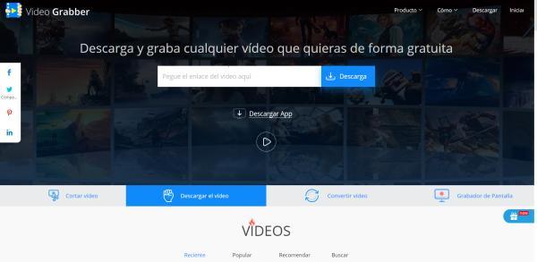 Programas para editar videos gratis sin marcas de agua - Videograbber