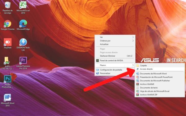 Cómo crear un acceso directo de una página web - Crear un acceso directo en Windows 10