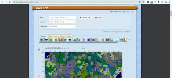 Cómo encontrar aldeas en Minecraft - Encontrar aldeas usando Chunkbase