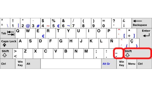 Cómo poner el guion bajo en una laptop - Cómo hacer el guion bajo en una laptop o PC con Windows