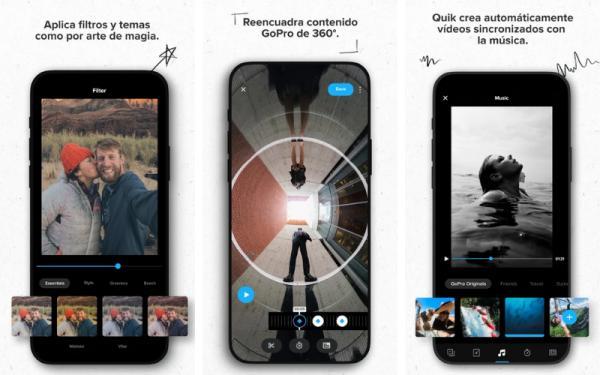 Aplicaciones para editar videos gratis - Quik