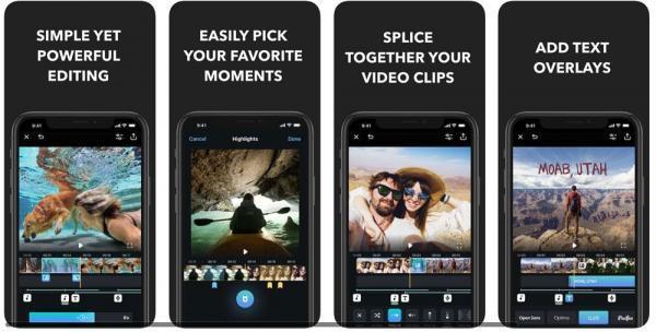 Aplicaciones para editar videos gratis - Splice